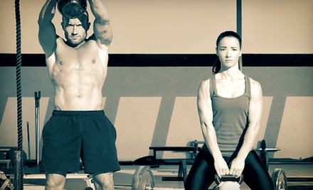 One or Two Months of Unlimited FitCamp Classes at AMP CrossFit BOX (Up to 53% Off)