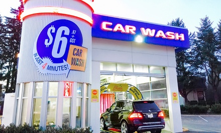 Two or Four First Place Finish Car-Wash Packages at SpeedWash Express Coquitlam (47% Off)