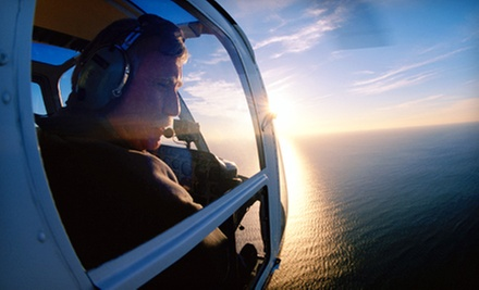 $189 for Helicopter Tour for Three with Champagne or Sparkling Cider from Channel Islands Helicopters ($525 Value)