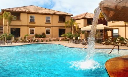 groupon daily deal - Stay at Desert Paradise Resort in Las Vegas. Dates Available into June.