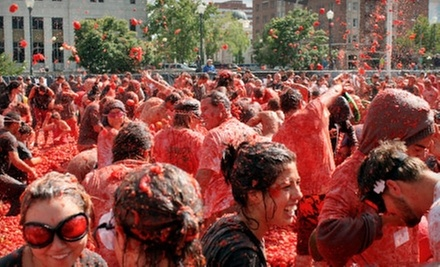 $25 for Entry to Tomato Battle at Alameda County Fairgrounds on Saturday, September 28 ($50.98 Value)