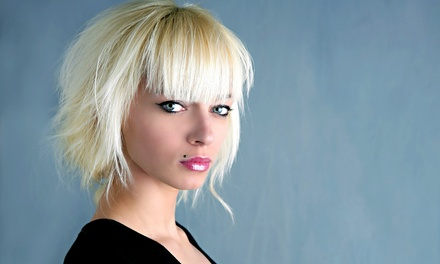 Haircut, Conditioner, and Style with Optional Single-Process Color or Full Highlights at Epic Styles (Up to 58% Off)