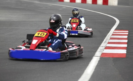 Two Go-Kart Races or Go-Kart Driving School with Rental Gear at Whiteland Raceway Park (Up to 53% Off)