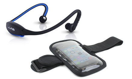 JLab GO Wireless Bluetooth Sport Headphones with Armband in Black, Blue, or Purple