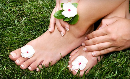 One or Three Gel Manicures with Option for Regular Pedicure at M Spa at Bown Crossing (Up to 57% Off)
