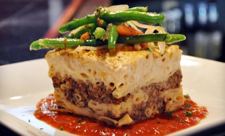 Four-Course Greek and Indian Dinner for Two or Four at The Mad Greek (Up to 57% Off)