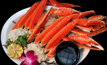 $30 for a Seafood Meal for Two with Snow Crab, Clams, Sausage, Corn, and Drinks at Raging Crab (Up to $65 Value)