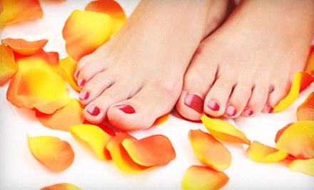 Express Pedicure with Heel Treatment, Shellac Manicure, or Both at The Dead Sea Skin Care & Day Spa (Up to 59% Off)