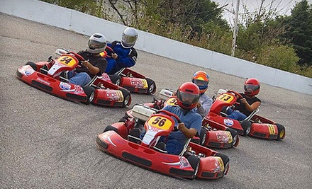 Three Go-Kart Races or Driving School with Rental Gear at Whiteland Raceway Park (Half Off)