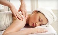60-Minute Basic Facial with Eye Treatment, 60-Minute Aromatherapy Massage, or Both at Skin Station (Up to 73% Off)