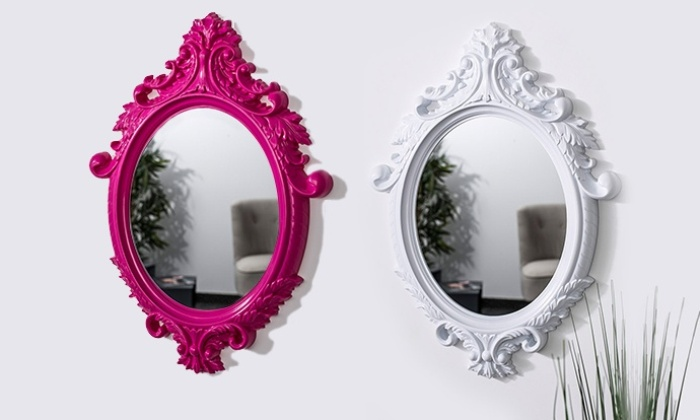 Soliving deal du jour groupon for Grand miroir blanc baroque
