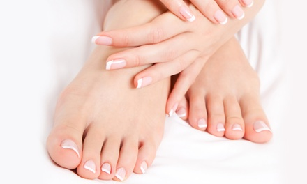 One or Two Spa Mani-Pedis at Aura Salon (Up to 51% Off)