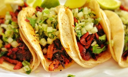 Mexican Food for Two or Four or More or Takeout at Taqueria (Up to 40% Off)