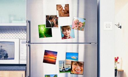 Pack de 5 ou 10 ímanes para frigorífico personalizados com fotos desde 4,95€