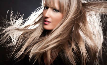 $289 for a Full-Head Human-Hair-Extensions Package at J.Bentley Studio &amp; Spa ($604.50 Value)