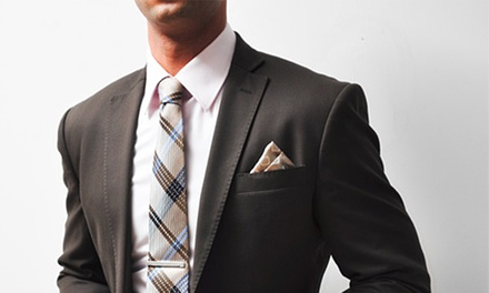 $649 for Custom Men's Cashmere Suit, Shirt, and Silk Tie, or Custom Overcoat at Empire Customs ($1,385 Value)