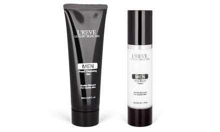 L'Reve Men's Aftershave and Cleanser Bundle