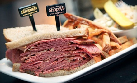 $10 for $20 Worth of Deli Food at Shopsy's