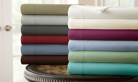 The Hotel Collection Solid Microfiber 3 or 4 Piece Sheets Set