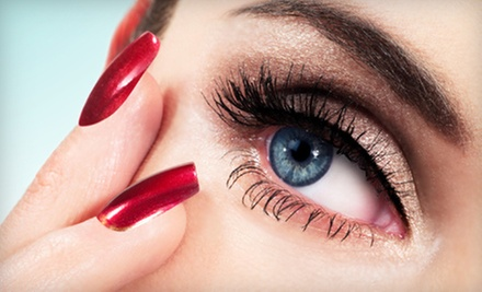 Eyelash Extensions or Airbrush Makeup at Makeup Mavens On Location (Up to 55% Off)