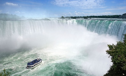 groupon daily deal - Stay with Wine & Chocolate Tours at Ramada Plaza Niagara Falls in Niagara Falls, ON; Dates into June Available