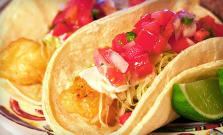 Fish and Shrimp Tacos at Best Fish Taco In Ensenada (Up to Half Off). Three Options Available.