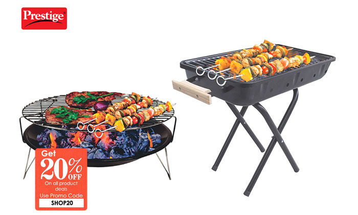From Rs.675 for a Prestige Barbeque Grill. Choose from 2 Options
