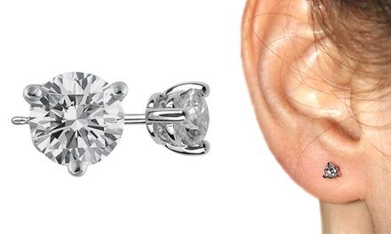 Brincos modelo PUNTO LUCE em ouro branco e diamantes desde 99,99€