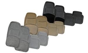 Heavy-duty 4-piece Semi-carpet And Pvc Car Floor Mats