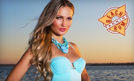Sunless Tans, Airbrush Tan, or UV Tanning at Beach Bum Tanning (Up to 77% Off). 10 Locations Available.