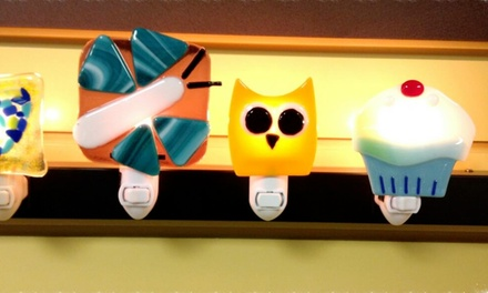 Fused-Glass Night Light Workshop for One or Two at Affinity Studios (55% Off)