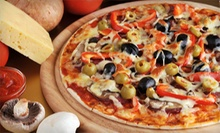 All-Natural Pizza and Hot Sandwiches at Straw Hat Pizza (52% Off). Two Options Available.