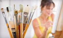 Three-Hour Painting Class for One or Two Adults at Red Brick Gallery (55% Off)