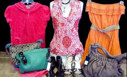 Clothing, Accessories, and Shoes at Private Collection Consignment (Half Off). Two Options Available.