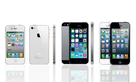 Apple iPhone 4s, 5, or 5s (GSM Unlocked) (Refurbished). Multiple Storage Options from $249.99–$609.99.