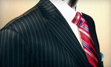 Custom Men's Suit with Option for Two Shirts or Two Shirts and a Wardrobe Consultation (Up to 54% Off)