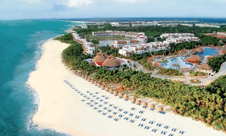 Groupon Deal: 4, 5, or 7 Nights for Two at Valentin Imperial Maya All Inclusive in Playa del Carmen, Mexico. Includes Taxes and Fees.