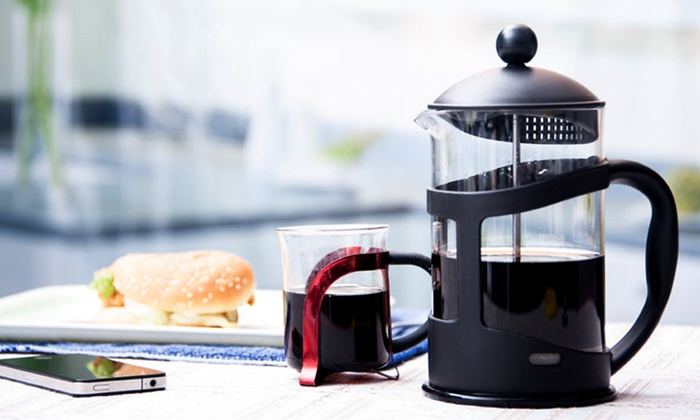 French Press Coffee and Tea Maker Groupon