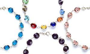 Sterling Silver Austrian Crystal Evil Eye Bracelets