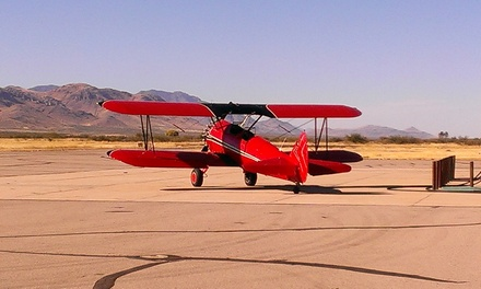 Introductory Flight Lesson or Aerial Mountain Tour from Big Red Biplanes (Up to 51% Off)