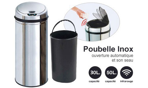 poubelles automatiques groupon shopping. Black Bedroom Furniture Sets. Home Design Ideas