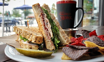 $12 for 4 Groupons, Each Good for $5 Worth of Coffee & Food at The Wired Monk Coffee Bistro ($20 Value)