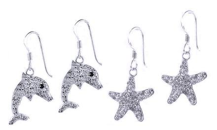 Earrings with Swarovski Elements in Sterling Silver