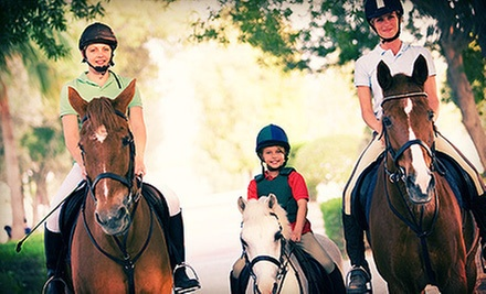Private Trail Ride or Horseback-Riding Lesson for One or Two at Healing Horse Adventures (Up to 67% Off)