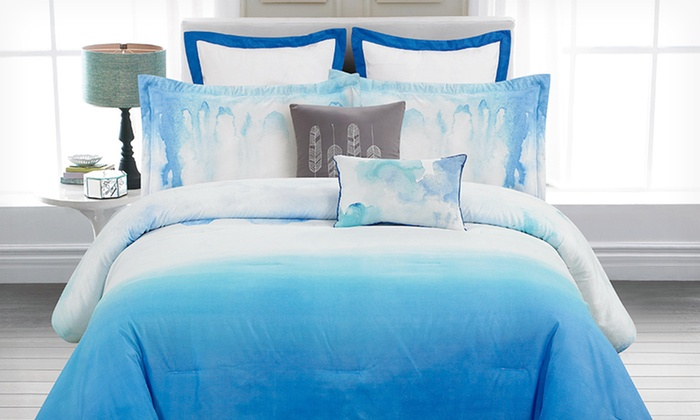 Skye Hotel 8 Piece Watercolor Comforter Set Groupon