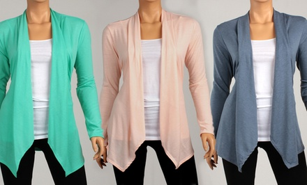 groupon daily deal - Spring Draped Cardigans. Multiple Colors Available. Free Returns.