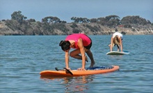 One or Three Paddleboard Yoga Classes at Floating Yogis (Up to 57% Off)