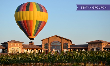 groupon daily deal - 1- or 2-Night Stay for Two in Deluxe Suite with a Balloon Flight from Tuscany Hills Resort and Spa in Escondido, CA