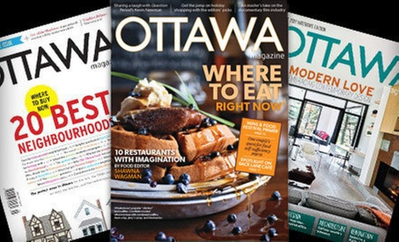 "$15 for a One-Year Subscription to ""Ottawa Magazine"" ($30.51 Value)"