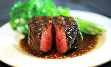 Steak-House Meal for Two or Four with Drinks at Marie Livingston's Steakhouse (Up to 37% Off)